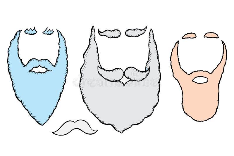 Santa brody i wąsy ilustracji
