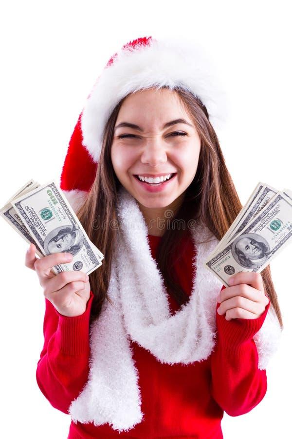 Santa Brought Banknotes Royalty Free Stock Image
