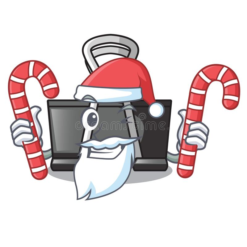 Santa with candy binder clip for charcter on documents. Vector illustration royalty free illustration