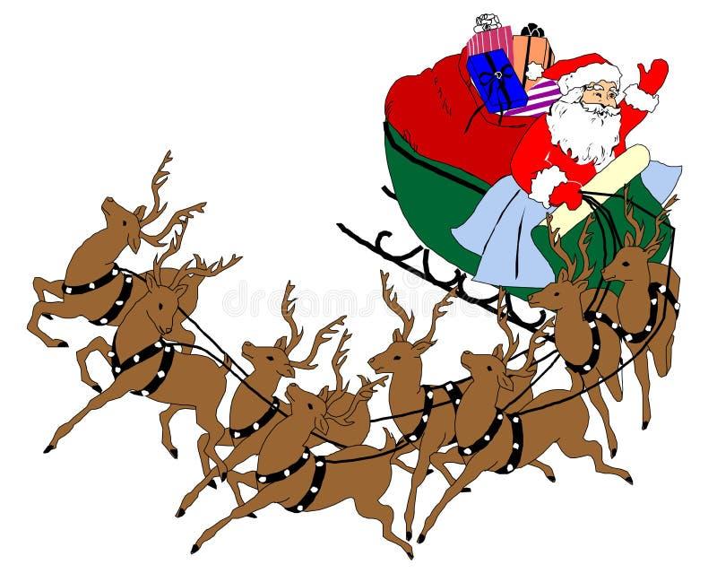Santa carriage royalty free stock photo