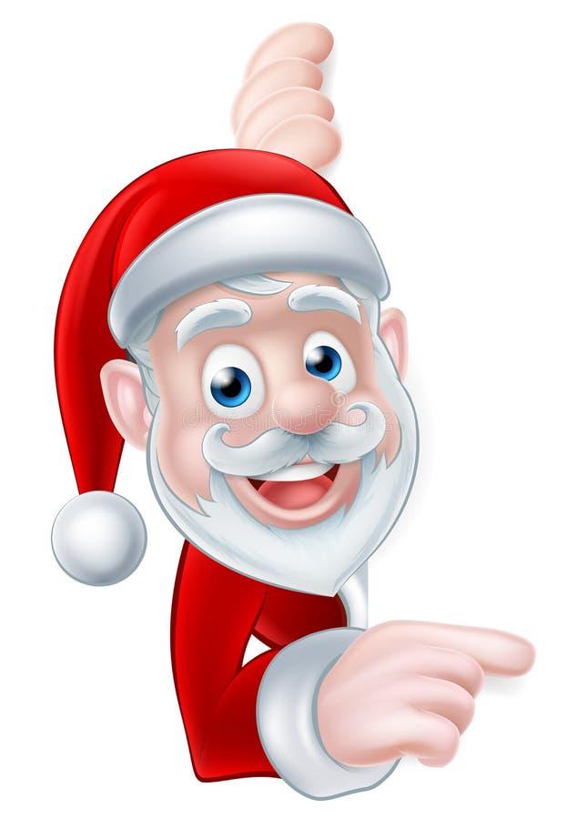 Santa Cartoon stock de ilustración