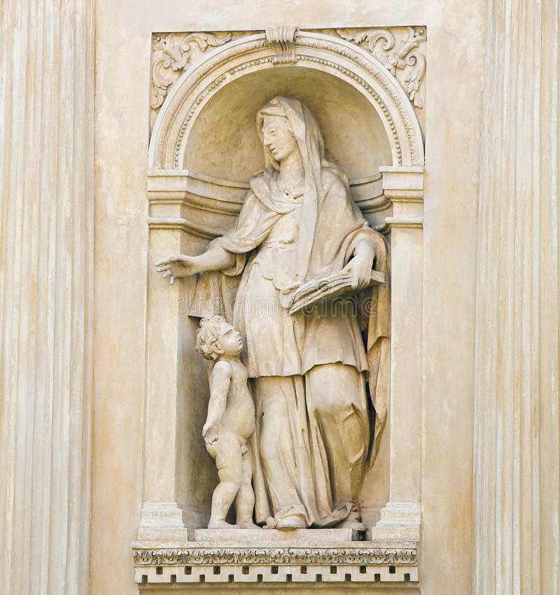 Santa Casa, Loreta, Prague - Statue of a Sybil. Statue at the Santa Casa of Loreta, a large pilgrimage site in Hradcany, Prague, of a Sybil, an oracular women stock photo