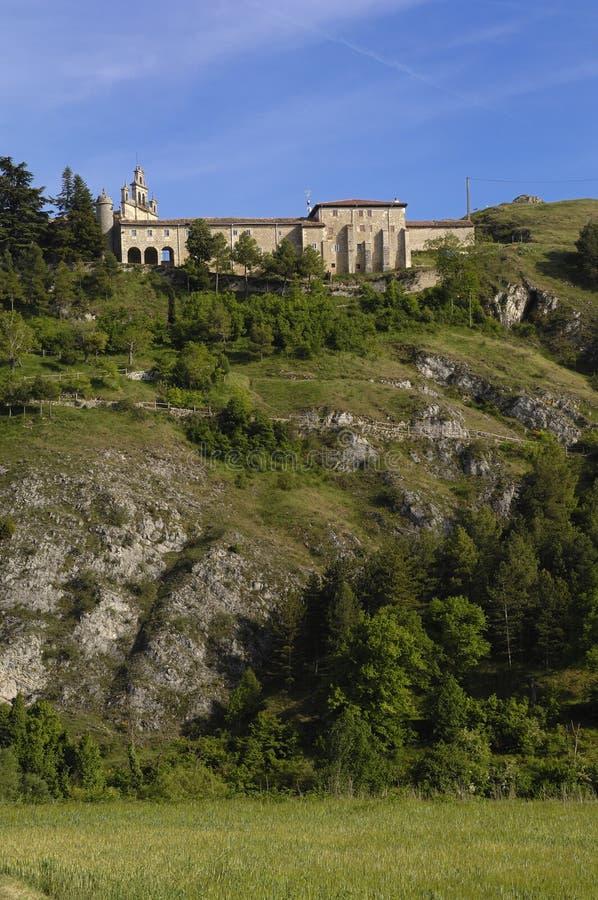 Santa Casilda świątynia, los angeles Bureba, Burgos zdjęcie royalty free