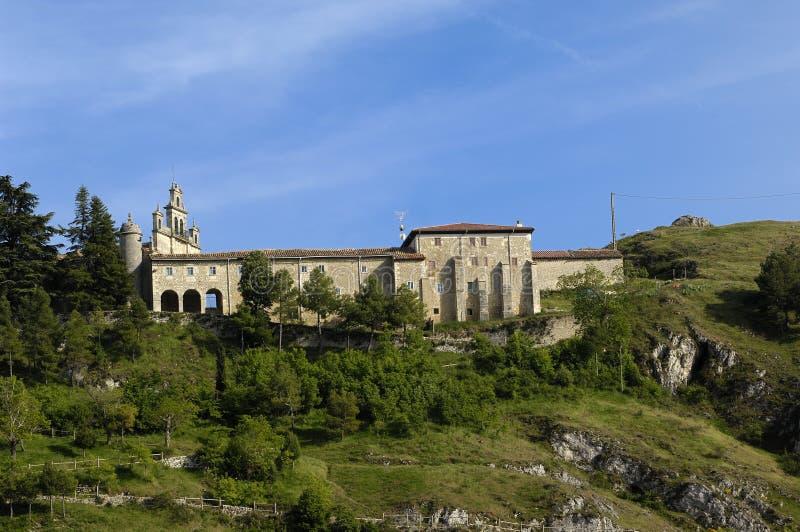 Santa Casilda świątynia, los angeles Bureba, Burgos prowincja, Leon S fotografia stock