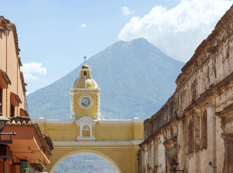 Santa Catalina Arch Antigua Guatemala imagem de stock