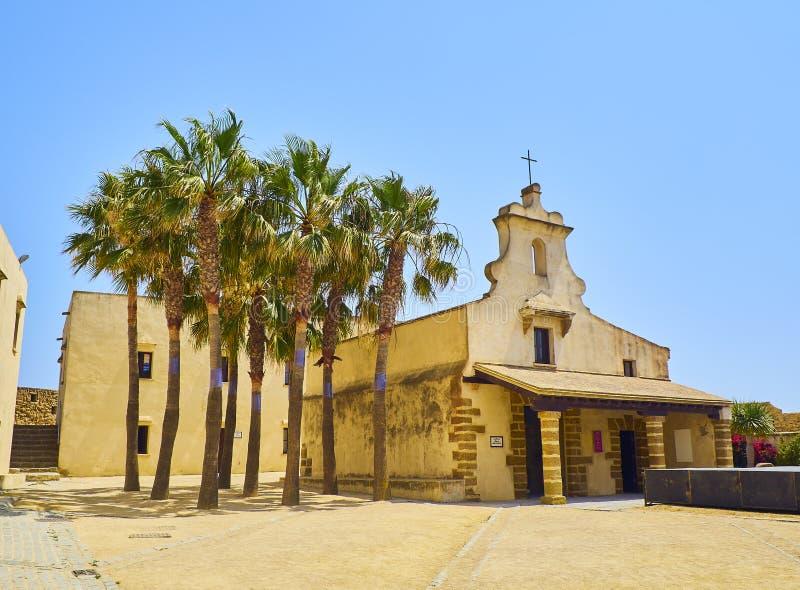 Santa Catalina Castle c?diz Andaluc?a, Espa?a imagen de archivo