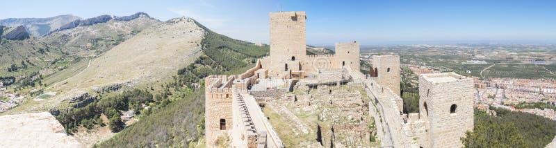 Santa Catalina castle interior panoramic view, Jaen, Spain stock photos