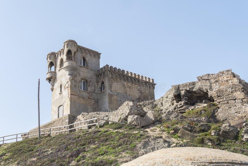 Santa Catalina Castle Tarifa, Cadiz, Spanien royaltyfria bilder