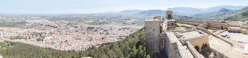 Santa Catalina castleand Jaen city panoramic view, Spain stock images