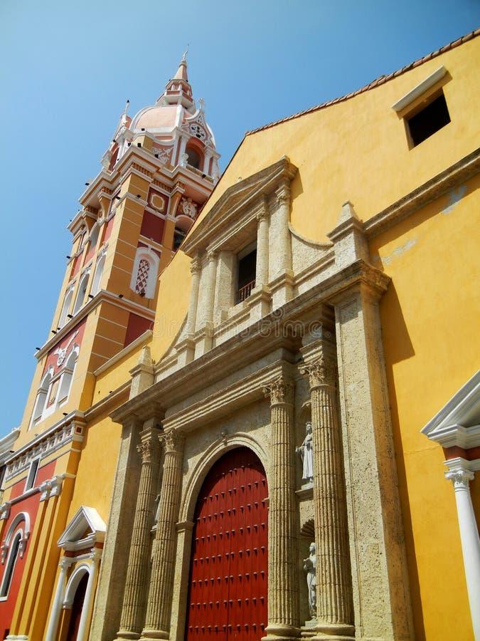 Santa Catalina de Alejandria Cathedral Carthag?ne, Colombie photo stock