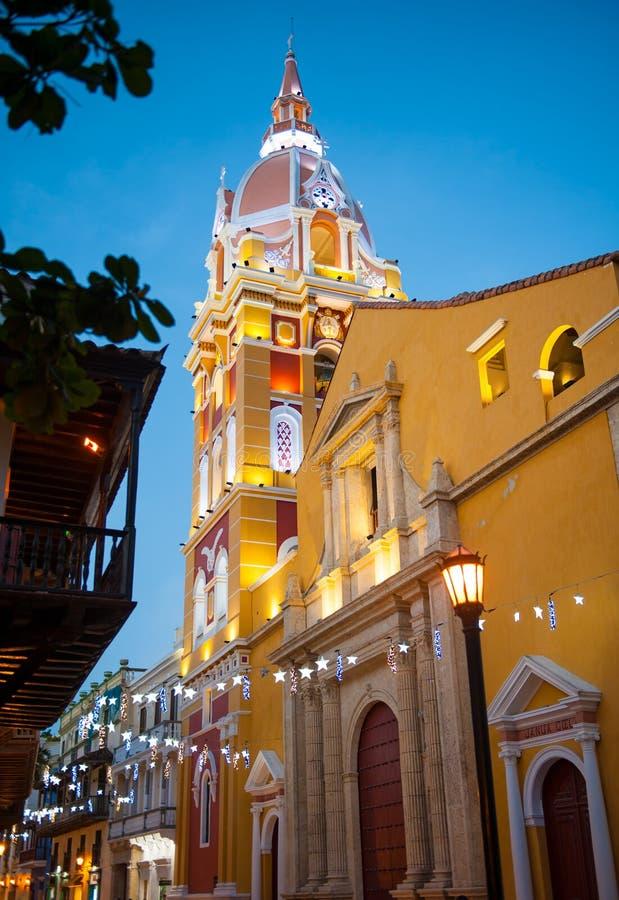 Santa Catalina De Alejandria katedra, Cartagena De Indias, Col zdjęcie royalty free