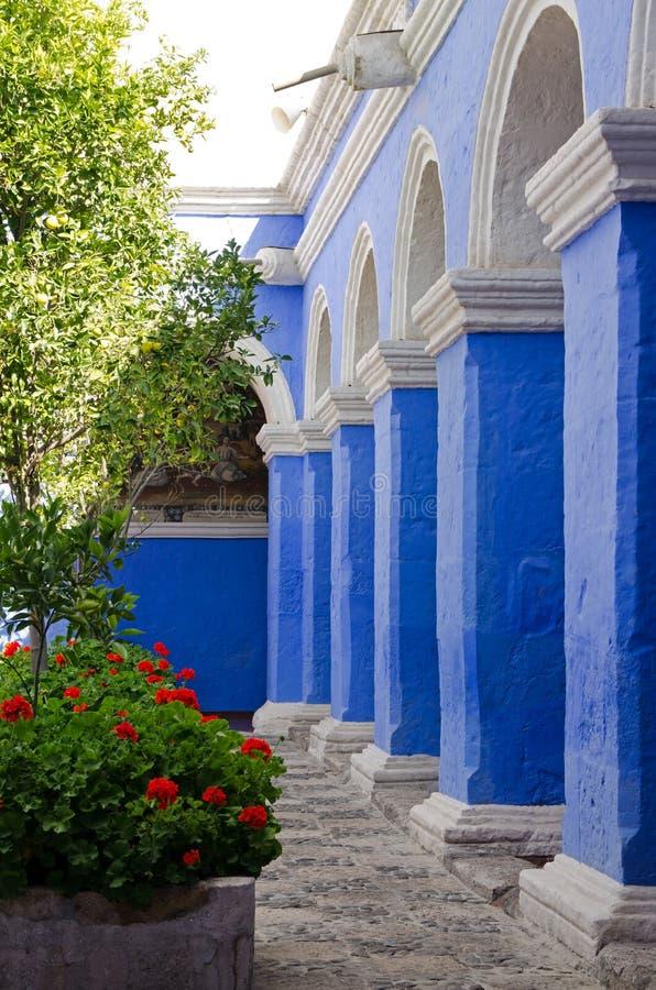 Santa Catalina kloster, Arequipa, Peru fotografering för bildbyråer