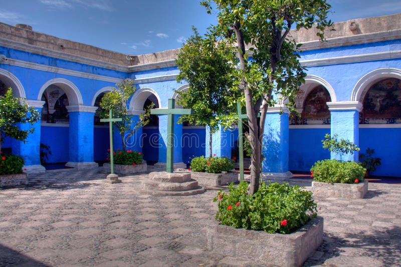 Santa Catalina, monasteriocloisters royaltyfri foto