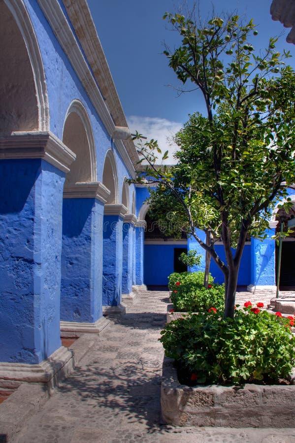 Santa Catalina, monasteriocloisters royaltyfri fotografi