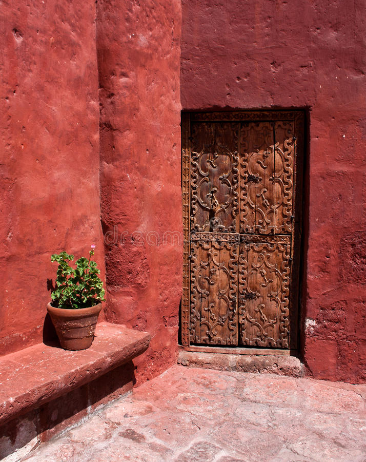 Santa Catalina, monasteriodörr royaltyfri bild