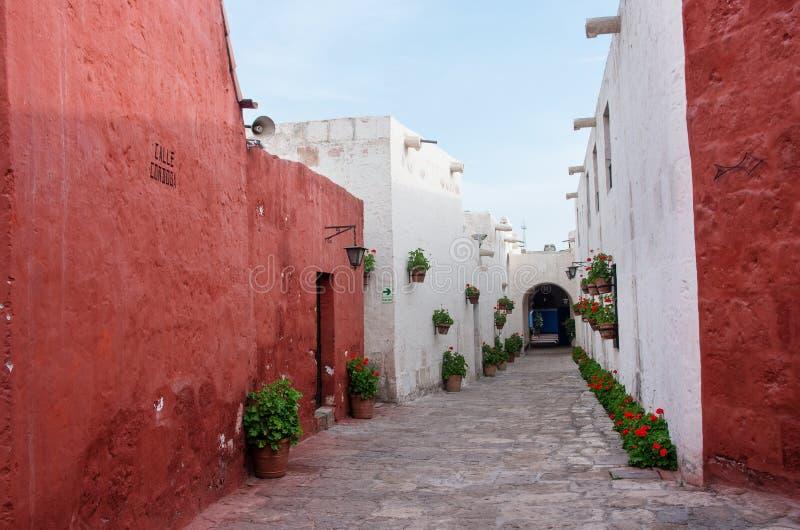 Santa Catalina Monastery à Arequipa, Pérou images libres de droits