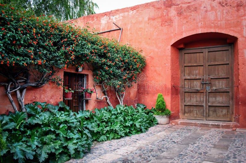 Santa Catalina Monastery à Arequipa, Pérou image stock