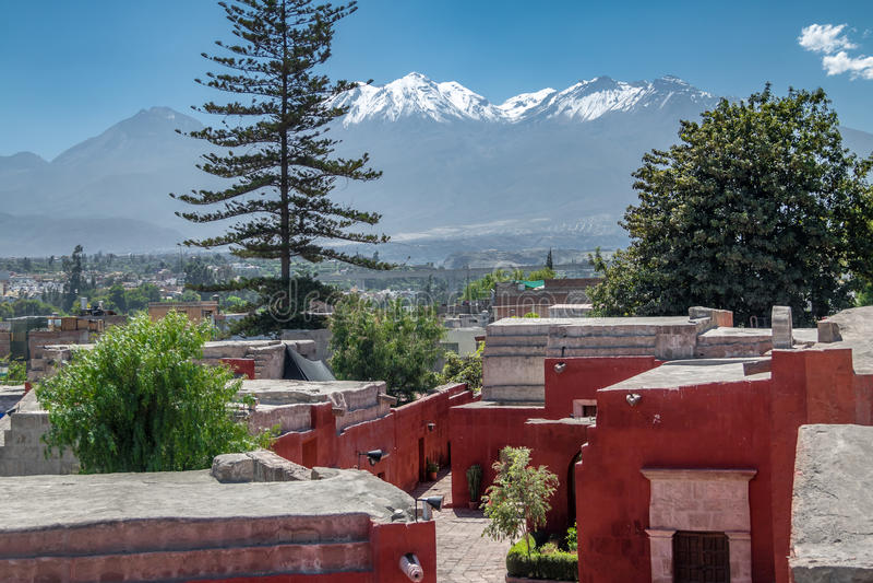 Santa Catalina Monastery - Arequipa, Pérou images stock