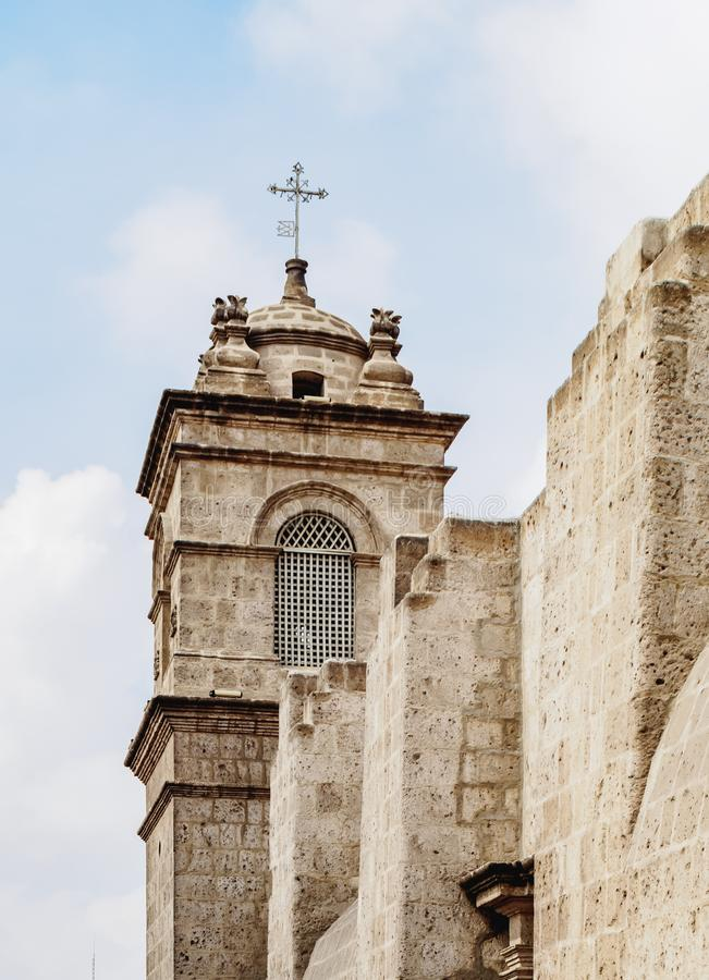 Santa Catalina Monastery in Arequipa, Peru stock foto
