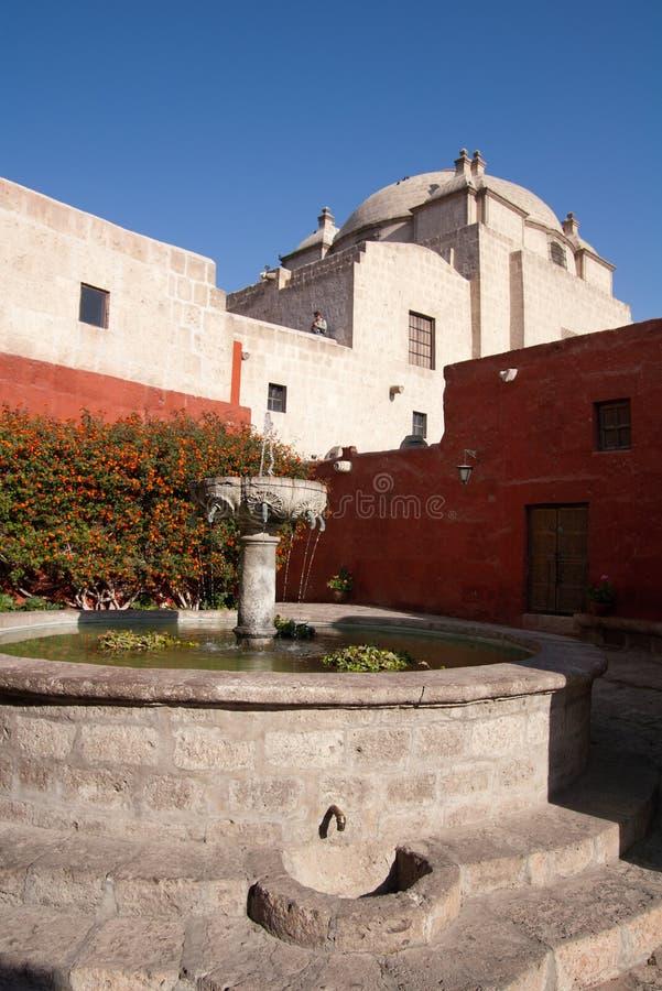 Santa Catalina Monastery fountain royalty free stock photo