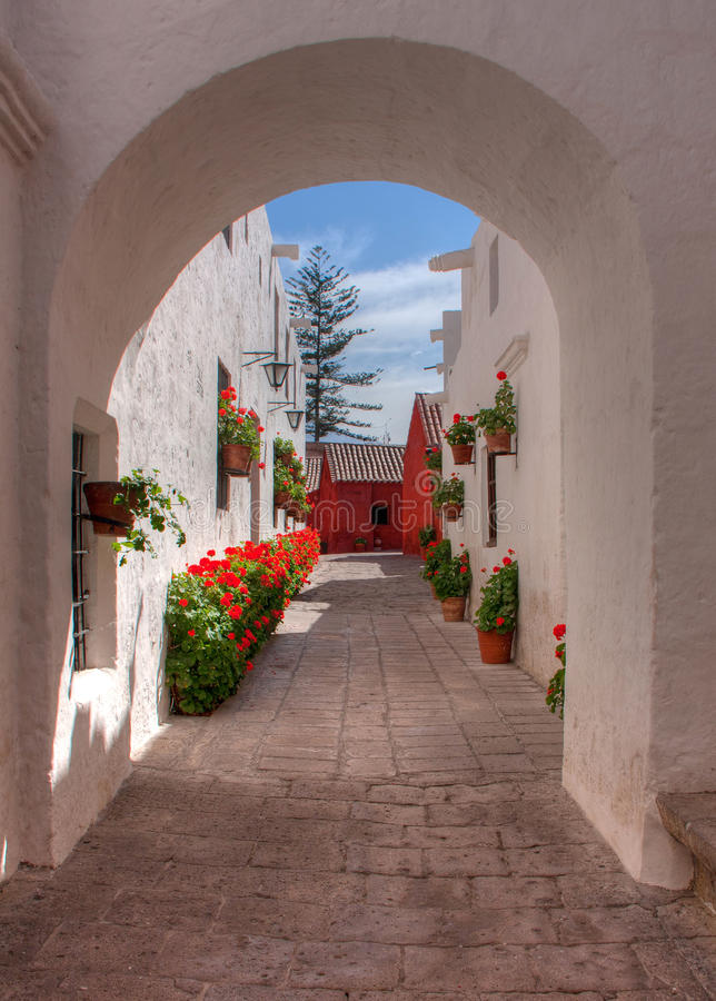 Santa Catalina Monastry royaltyfri fotografi