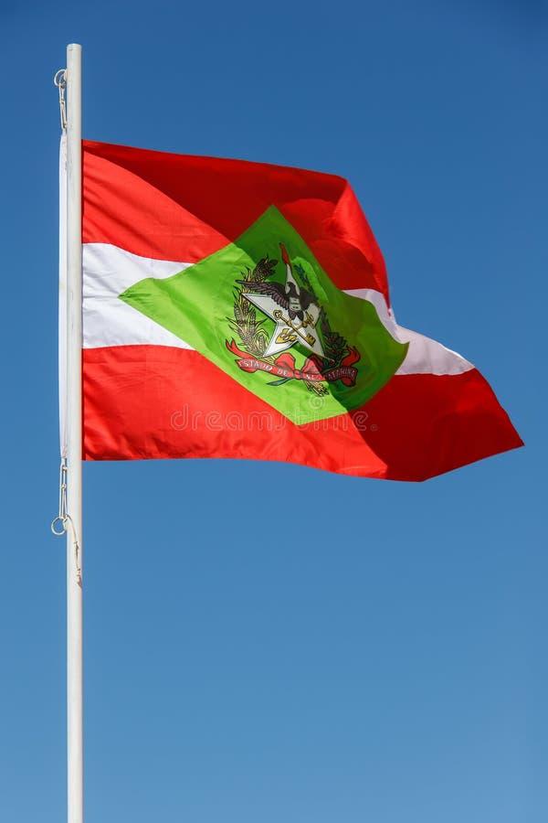 Santa Catarina Flag - el Brasil imagen de archivo