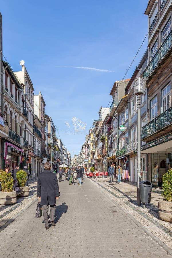 Santa Catarina Street, η κύρια οδός αγορών της πόλης στοκ εικόνα με δικαίωμα ελεύθερης χρήσης