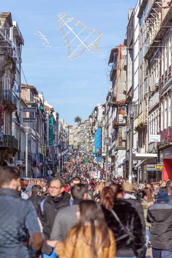 Santa Catarina Street, η κύρια οδός αγορών της πόλης στοκ φωτογραφίες