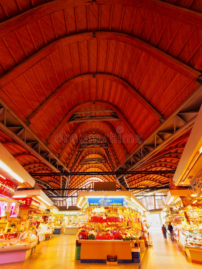 Santa Caterina Fresh Food Market in Barcelona royalty free stock image