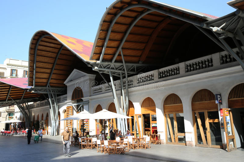 Santa Caterina Market Hall stock image