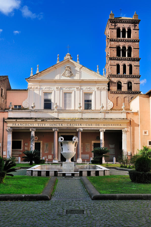 Santa Cecilia en Trastevere fotos de archivo