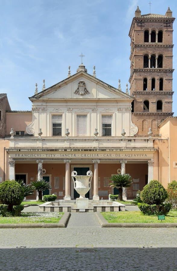 Santa Cecilia ko?ci?? w Trastevere zdjęcia royalty free