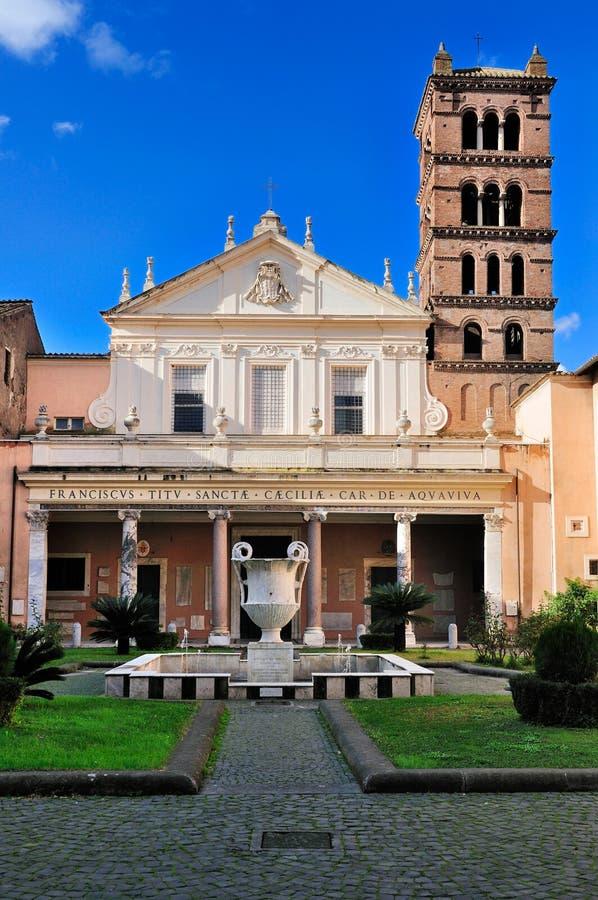 Santa Cecilia in Trastevere stockfotos