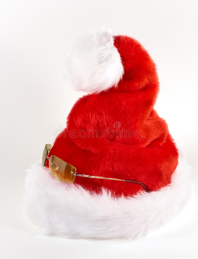 Santa chłodno & radosny Kapelusz fotografia royalty free