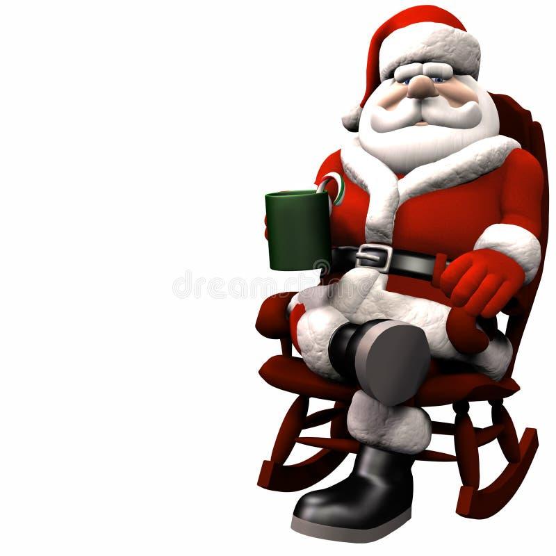Santa che si distende 1 royalty illustrazione gratis