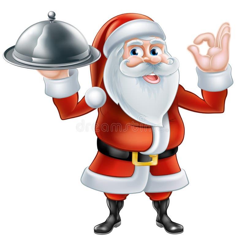 Santa Chef Christmas-diner 2015 [Omgezet] B1 vector illustratie