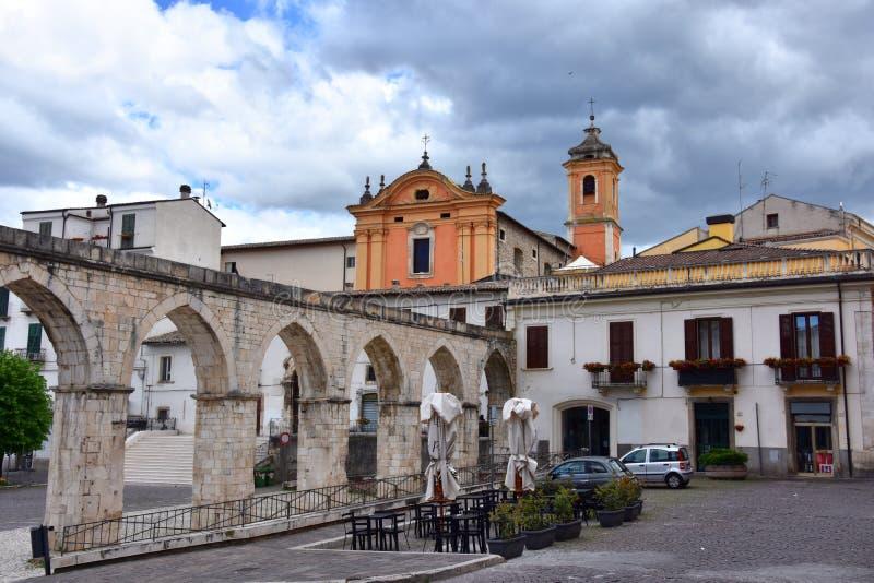 Santa Chiara Church Sulmona, Abruzzo royaltyfria foton