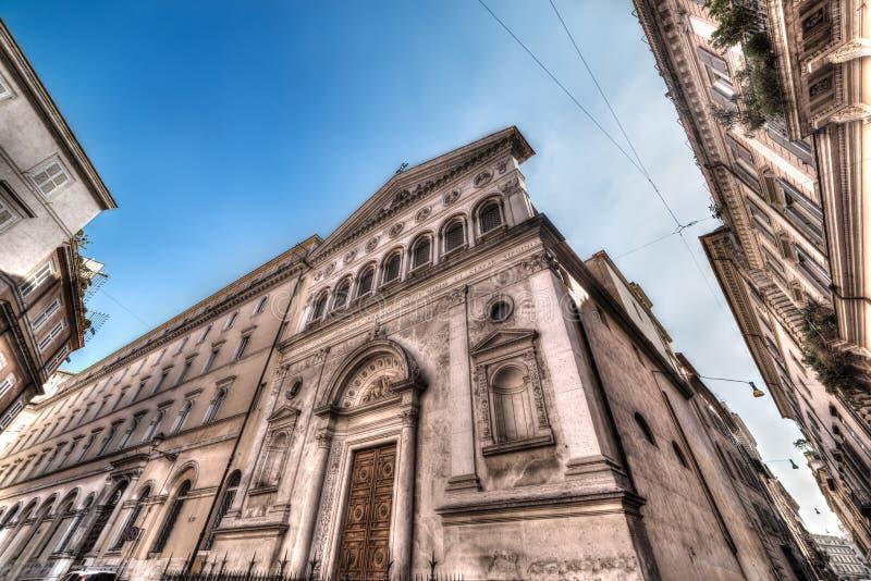 Santa Chiara kyrka i Rome royaltyfri bild