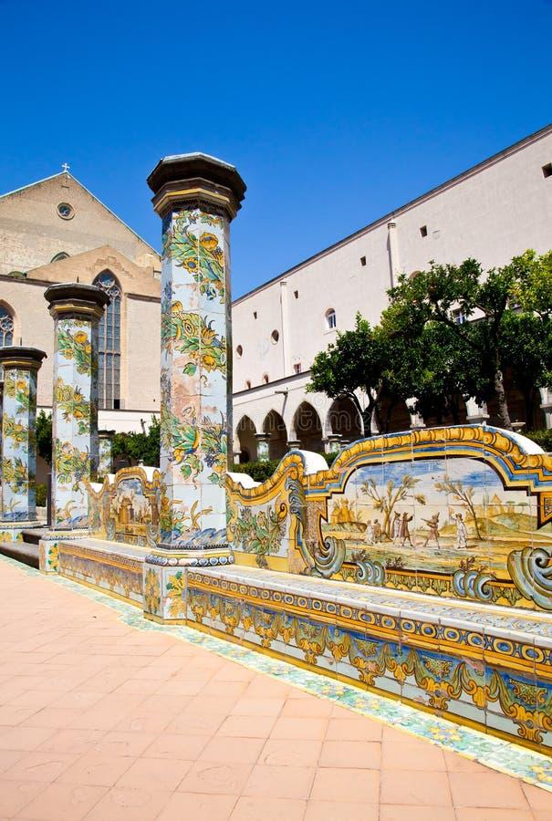 Santa- Chiarakloster - Neapel lizenzfreies stockbild
