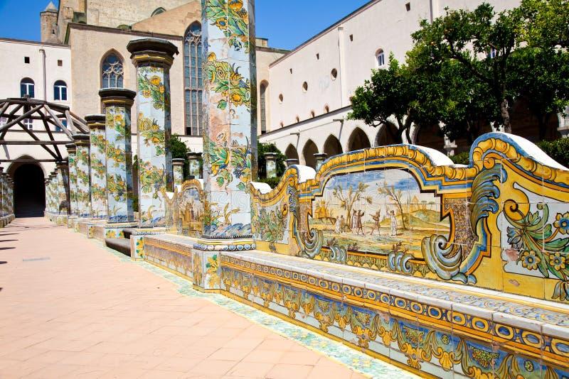 Santa- Chiarakloster - Neapel stockbild