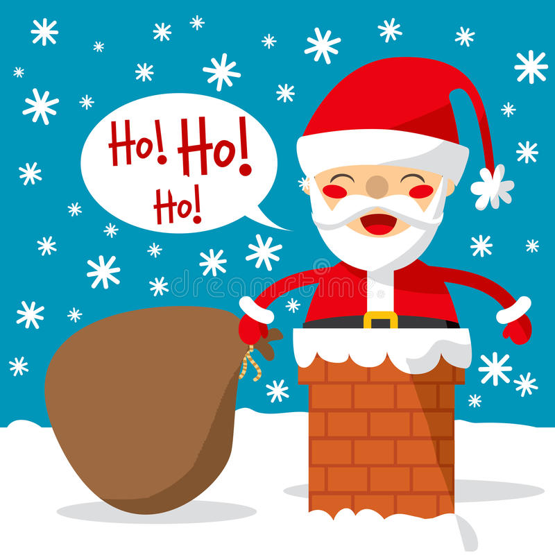 Free Santa Chimney Royalty Free Stock Images - 17428179