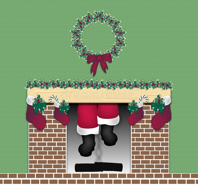 Free Santa Chimney Stock Photo - 7295580