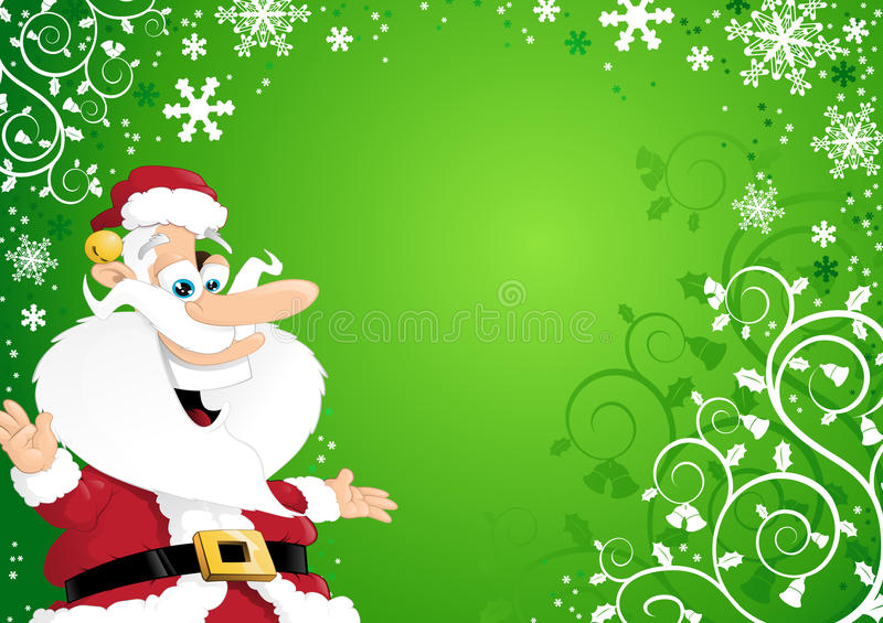 Download Santa On Christmas Background Stock Vector - Image: 21786531