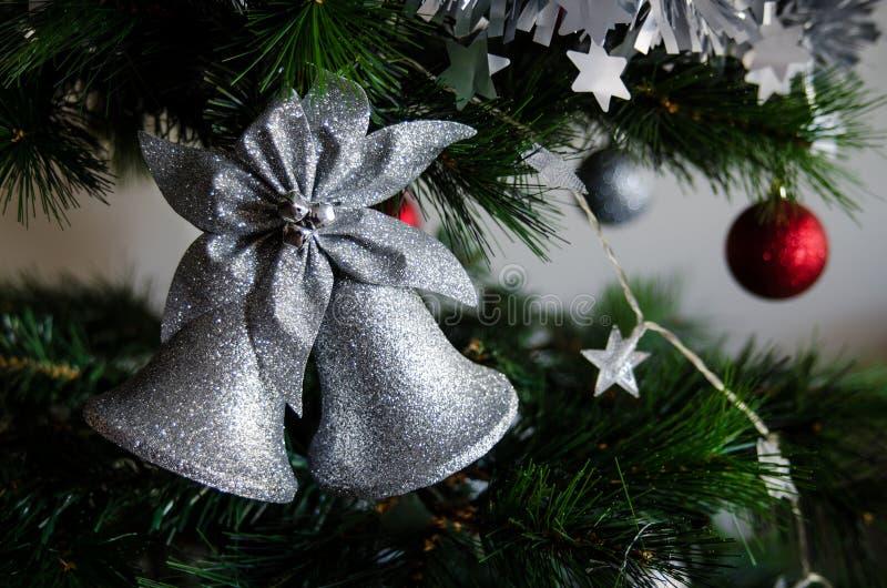 Santa Christmas Bell stock foto's