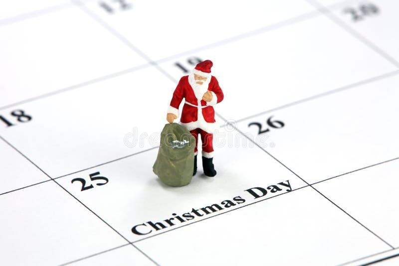 Download Santa On Christmas Calendar Stock Photo - Image: 3382436