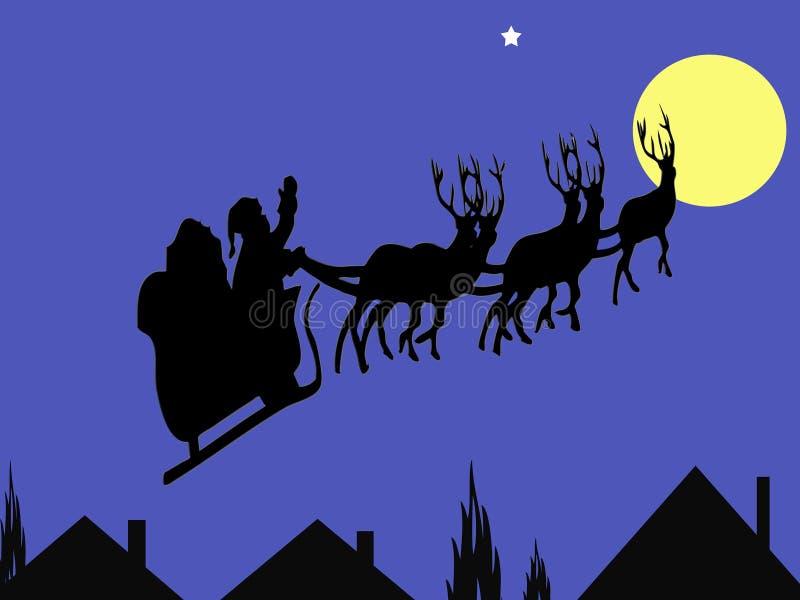 Santa christmas card vector illustration