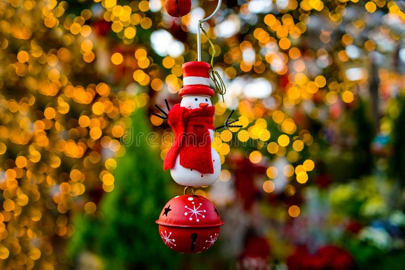 Santa christmas dolls decoration statue lighting closeup isolated background royalty free stock photo
