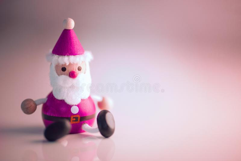 Santa christmas dolls decoration statue lighting closeup background stock photos