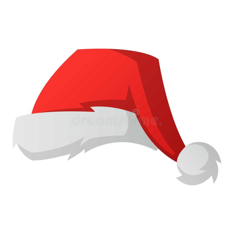 Santa christmas hat vector illustration. vector illustration