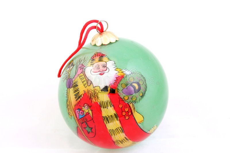 Download Santa christmas ornament stock photo. Image of snow, reflects - 1414812